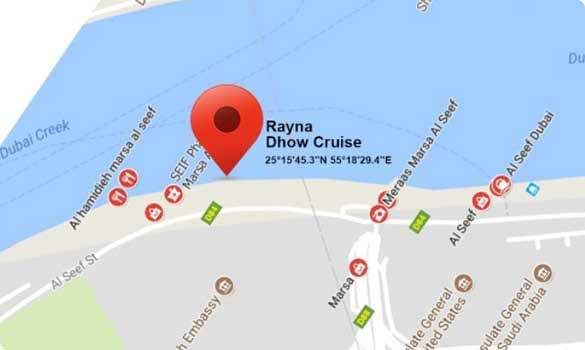 dhow cruise map