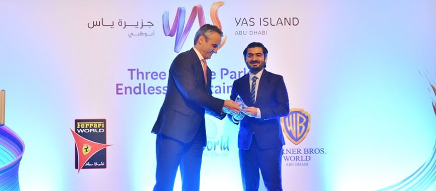 Top Seller for Yas Theme Parks 2018 Award