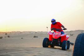 quad bike in dubai desert
